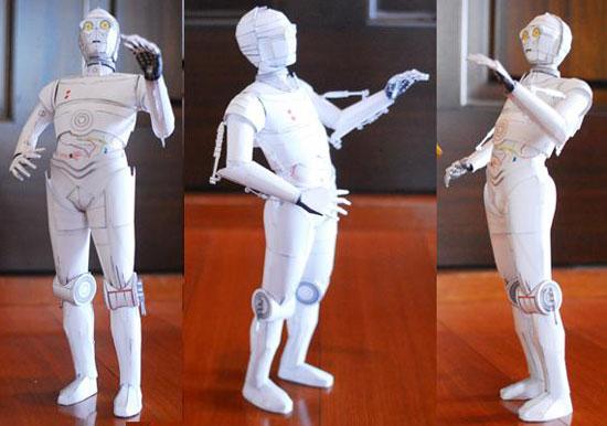 C3PO en papel