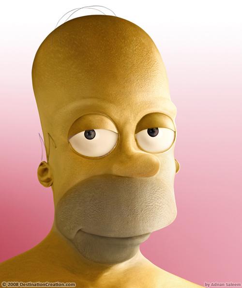 Homer Simpson untooned
