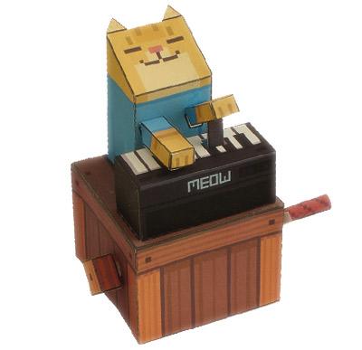 Keyboard Cat Papercraft