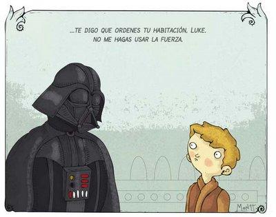 Darth Vader y su hijo Luke