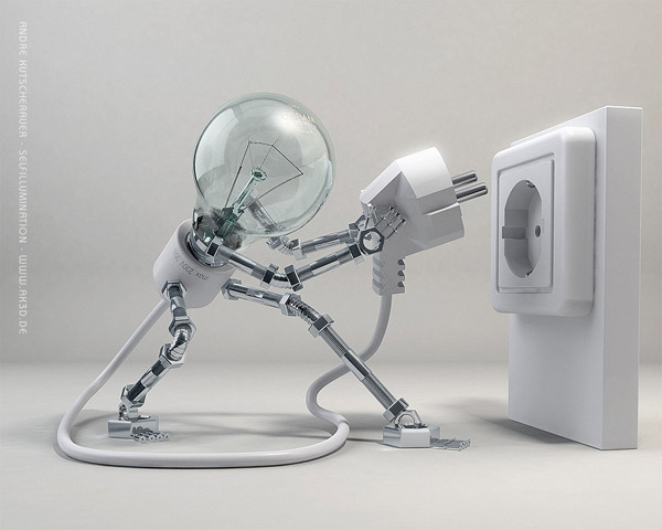 Robot alimentadose