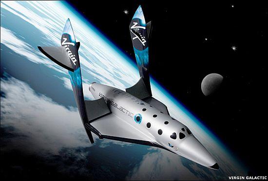 Virgin spaceship tourist