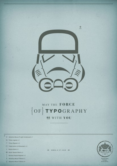 Star Wars con tipografia