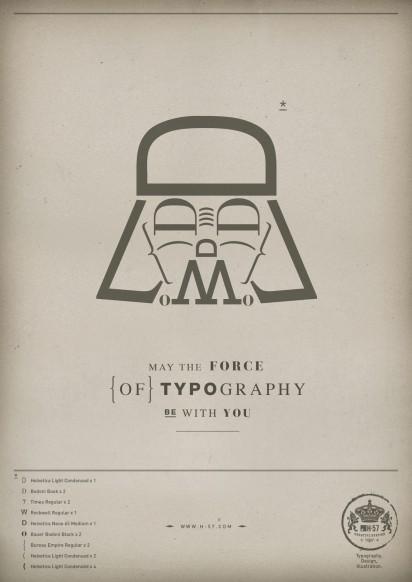 Star Wars con tipografia