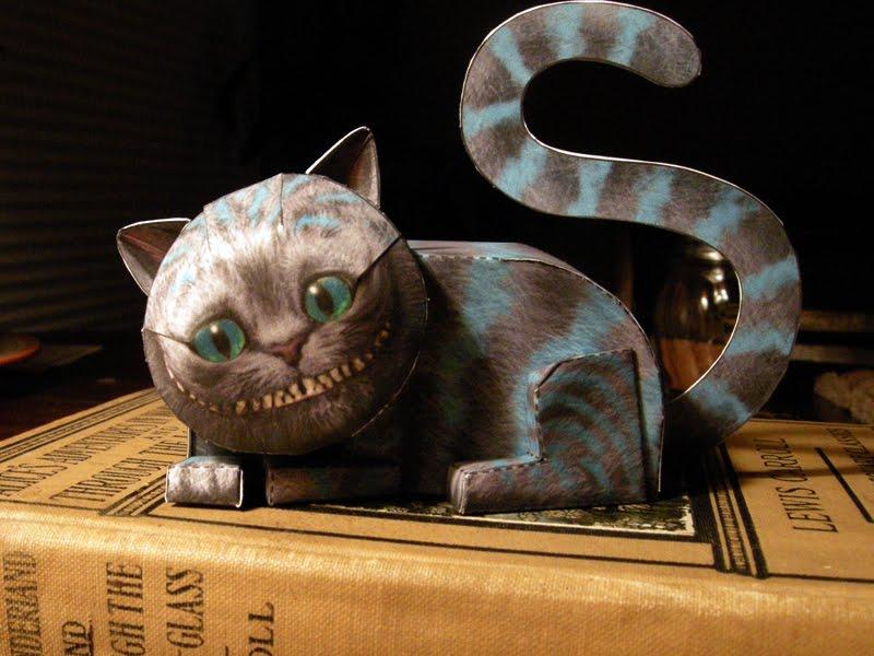 Cheshire cat papercraft