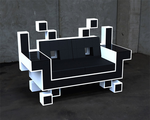 Space Invader Love Seat