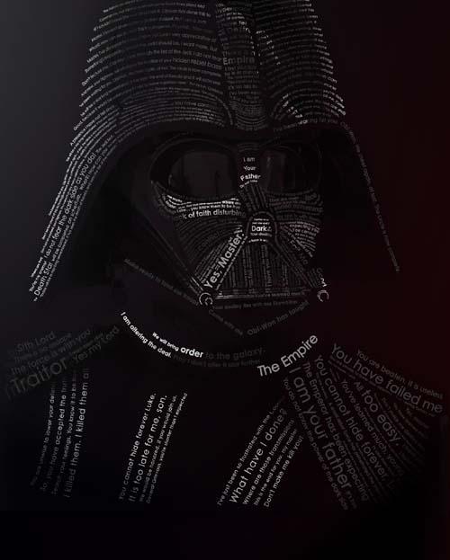 Darth Vader in Fonts