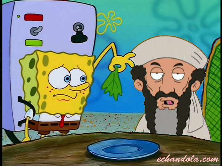 Sponge Bob with Osama Bin Laden