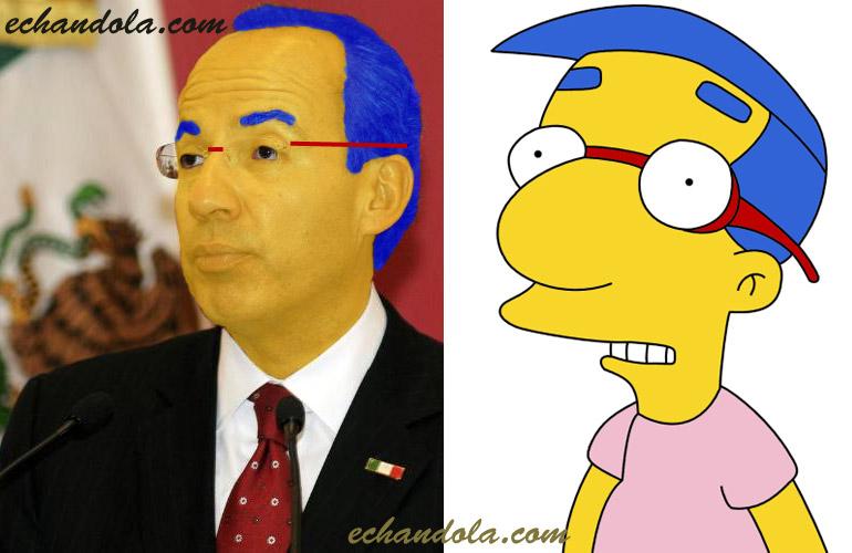 Felipe Calderon y Milhouse