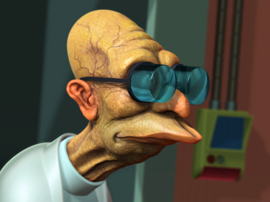 Futurama professor Hubert