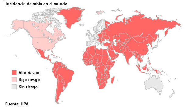 Mapa Rabia Mundo