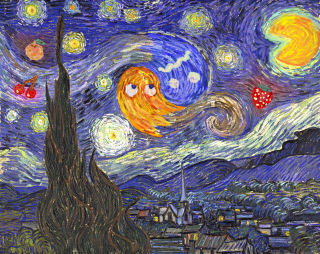 Pac Man Starry Night