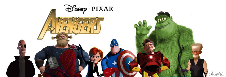 The Avengers estilo Pixar