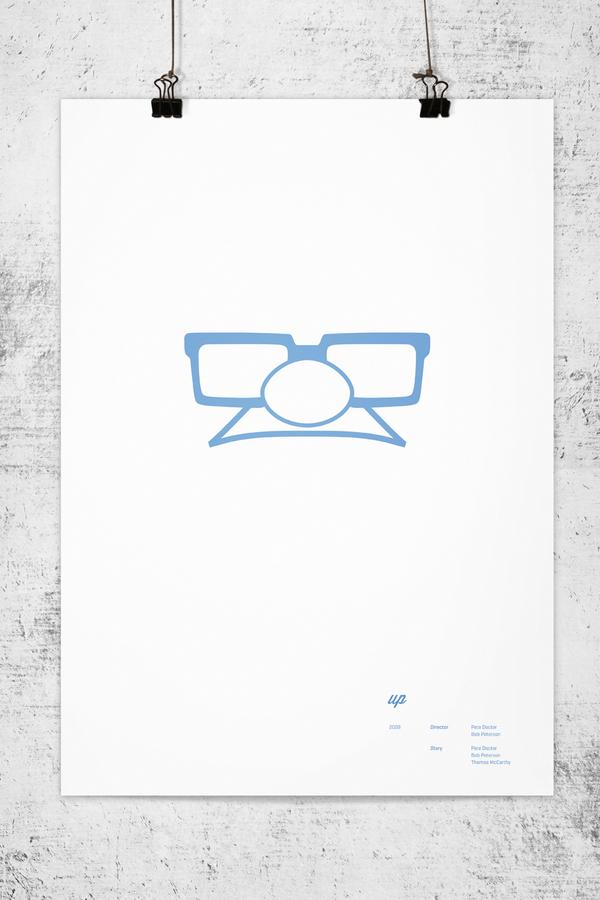 Poster minimalistas de Pixar