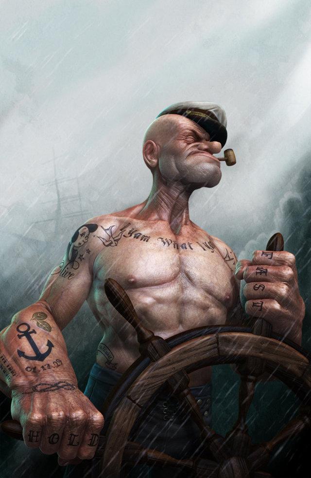 Popeye realistico