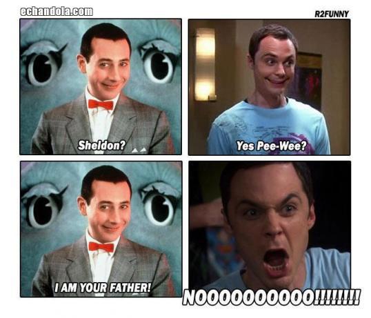 Sheldon Cooper y Pee-wee Herman