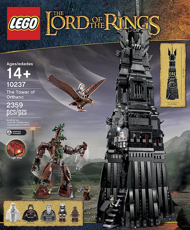 orthanc tower lego set