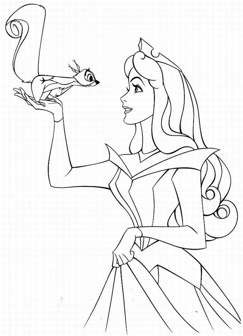 Princesa Aurora para pintar - Echandola